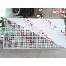 Painel composto de alumínio revestido com PVDF perfurado