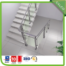 Balustrade With Stainless Steel Glass Railing