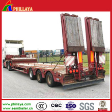 3 Axles Lowbed Trailer for Big Equipments Transportation