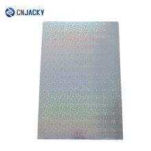 Hoja de PVC holográfico transparente multicolor para la fabricación de tarjetas en color