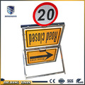 outdoor reflective traffic sign boards with lights