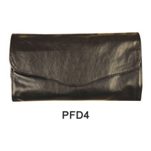 Black satin hand bag for makeup with magnet