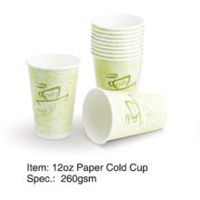 Taza de papel de pared simple de 8oz / 12oz / 16oz