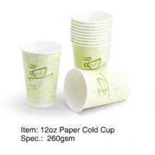 Single Wall Cold Paper Cup 8oz/12oz/16oz