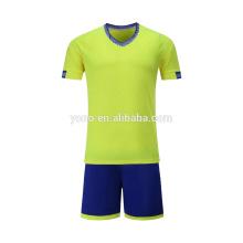2017 novo garoto de futebol jersey design personalizado em branco preço barato uniforme de futebol