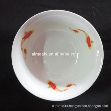wholesale white ceramic fruit ripening bowl