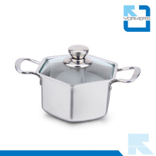 304 18/8 Stainless Steel Hexagon Stock Pot & Soup Pot