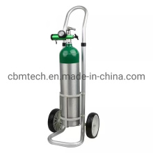 portable Medical Oxygen Aluminum Cylinders with Trolleys