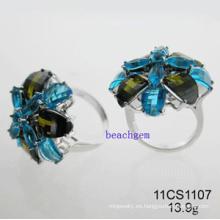 Circonita plata anillos de la joyería (11CS1107)