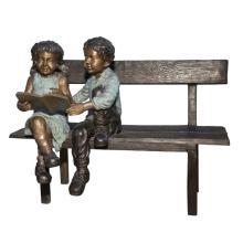 Nude jardin métal artisanat vie taille garçon bronze statue enfants à vendre