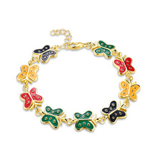 Imitation Gold Plated 18k Gold Plated Women Bracelelt Butterfly Gold Bracelet