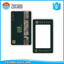 Cartão visual Rewritable plástico personalizado