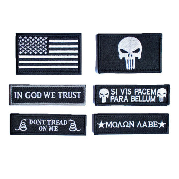 Military Embroidered Velcro Patches Great For Cloth