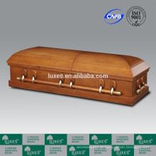 Serviço de cremação Carvalho folheado caixão & caixão americano do estilo