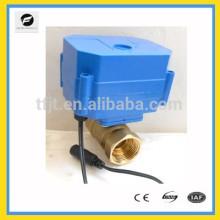 válvula de cierre eléctrica miniatura DC12V con gran par motor para agua pura y sistema de filtrado de agua y tratamiento de agua