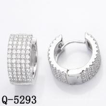 Leuchtende Art- und Weiseschmucksache-Band-Ohrringe 925 Silber (Q-5293)