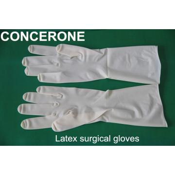 Медицинские латексные опудренные хирургические перчатки (LG1065P)