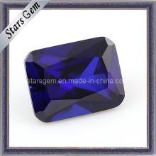 MID Violet Forma rectangular Octagon Princesa Cut CZ Zirconia cúbico
