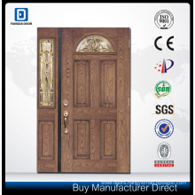 double leaf wooden entry door
