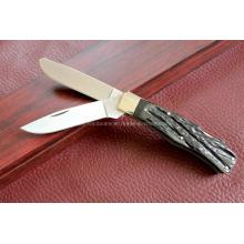 Lâmina de lâmina dupla do punho da buzina do boi (SE-0477)
