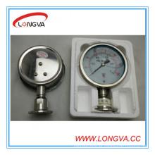 Manómetro de líquido de acero inoxidable
