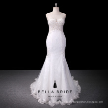 Sleeveless see through vestido de noiva bride dress lace wedding dresses mermaid bridal gowns 2016