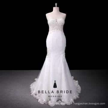 Sans manches voir à travers vestido de noiva robe de mariée robes de mariée en dentelle sirène robes de mariée 2016