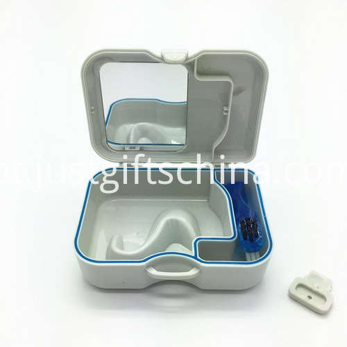 Promotional Square Denture Box With Mirror And Brush_3