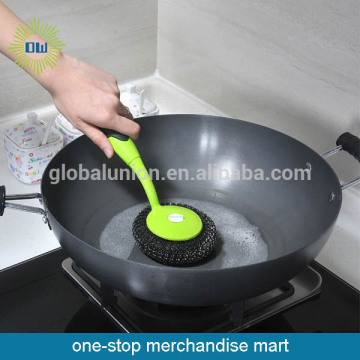 Plastic Handle Pot Brush With Cleaning Ball