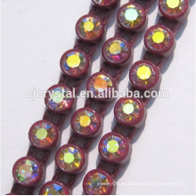 Plastikbasis-Kristalldiamant-Rhinestone-Kettenbandung-Ordnung