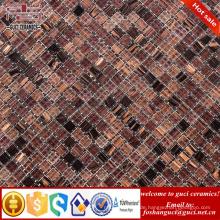 China Fabrik braun Kleine Partikel gemischt Hot - Melt Mosaik Küche Bodenfliese