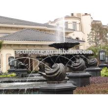 Escultura moderna de la fuente del paisaje residencial