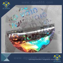 Custom Design Void Laser Sticker