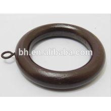 Kaffee Holz Holz Vorhang Ring für Vorhang Rod