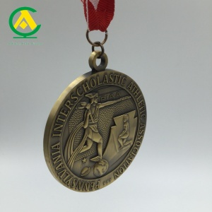 Wholesale Factory Running Medal Brass Copper Award Sports Medal