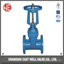 Resilient seated rising stem gate valve