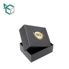 Caja de joyería de encargo del anillo del parte movible del terciopelo inferior superior de lujo de la cartulina