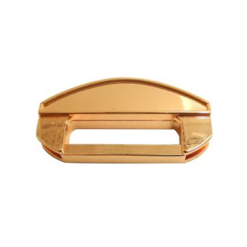 Fashion Handbag Accessories Rose Gold Colored Metal Plate, Metal Handbag Lock