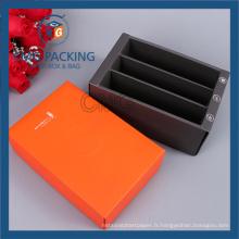 Boîte de papier pliée bon marché avec le diviseur