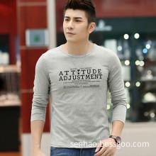 Men`S Customized Long Sleeve Screen Printing T-Shirt