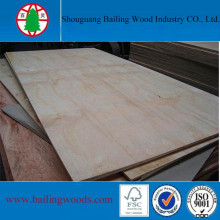 Poplar Core Pine Veneer Plywood for Furniture