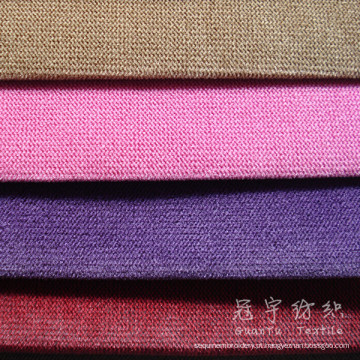 Pilha curta veludo cor dobro para capas de sofá