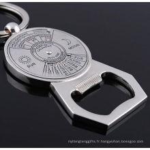 Chaîne porte-clés promotionnelle 50 ans avec ouvre-bouteille (F5059)
