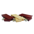 Square Wood USB Flash Drive Swivel USB Stick