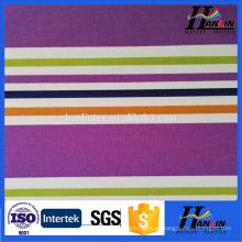 100% tecido de lona de algodão orgânico impressa 100%