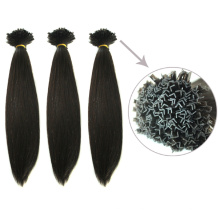 10-30 Inch Black Color Straight Virgin Brazilian V-Tip Hair Extensions