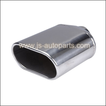 ROLLED IN OVAL SPLANT STAINLESS STEEL T304 EXHAUST TAILPIPE