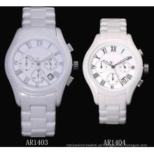 Glatt White Ceramic Watch para homens e mulheres