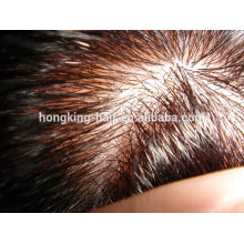 natural roots bleached hair virgin human hair mens toupee