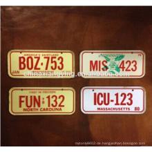 Reflektierende dekorative Metallkennzeichen, kundenspezifische dekorative Auto-Platte